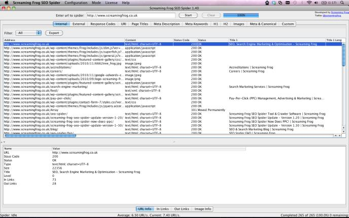 Screaming Frog SEO Spider For The Mac