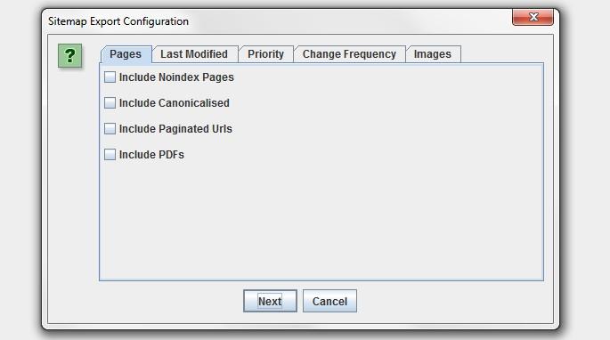 xml sitemap options