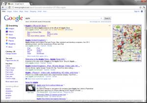 Apple 6 Sitelinks ad