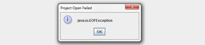 Java end of file error