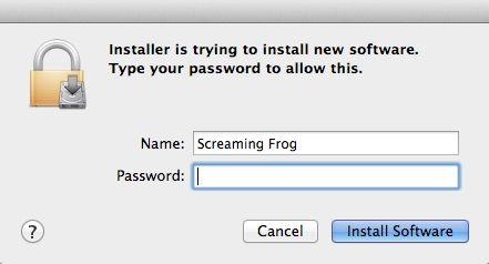 installer password