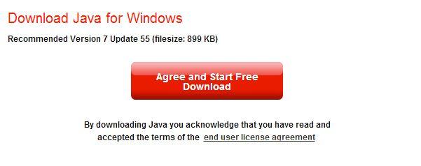 java 7 windows agree