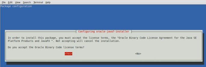 java 7 ubuntu licence terms