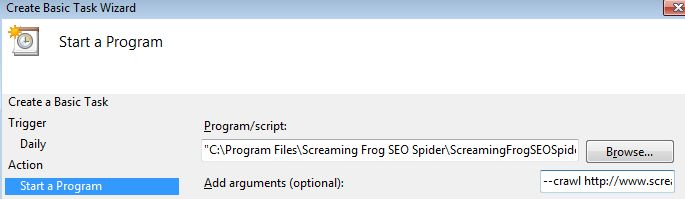 how to schedule a crawl in the seo spider