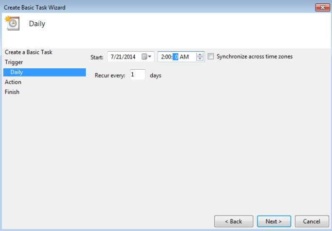 windows task scheduler step 5!