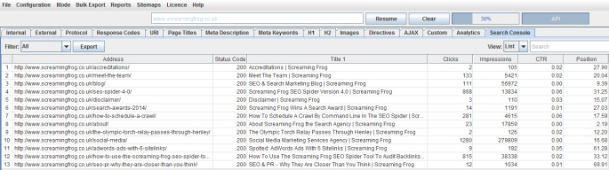 Screaming Frog SEO Spider 5.0