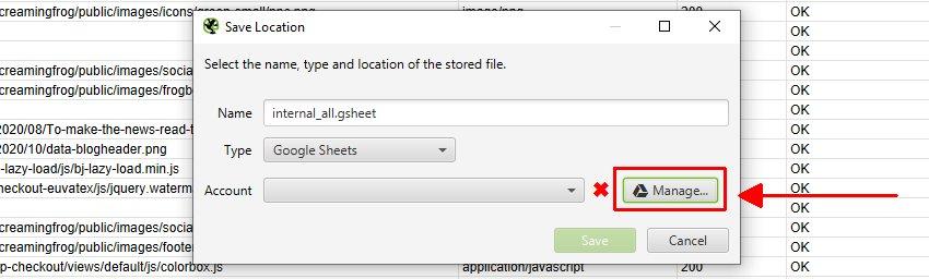 Google Sheets Manage