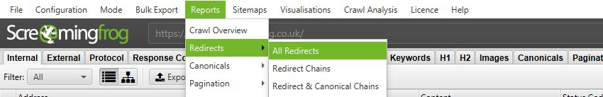 Redirect Reports