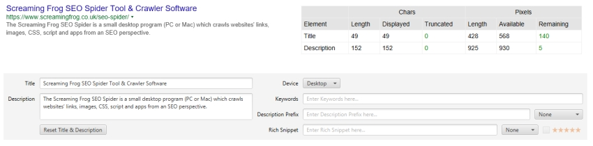 SEO Spider Tabs | Screaming Frog