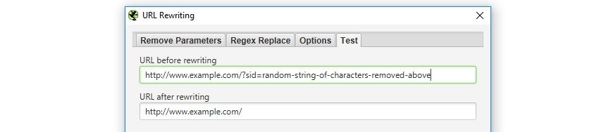 url rewriting test