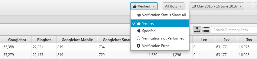 bot verification status filter