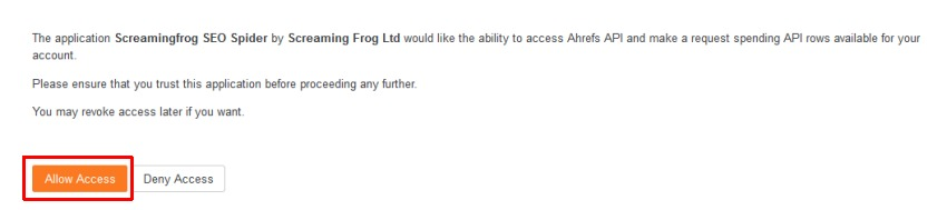 Ahrefs API access