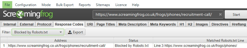 URLs disallowed by robots.txt