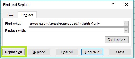 Bulk Testing PageSpeed Insights with the SEO Spider