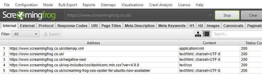 Audit XML Sitemaps Crawl