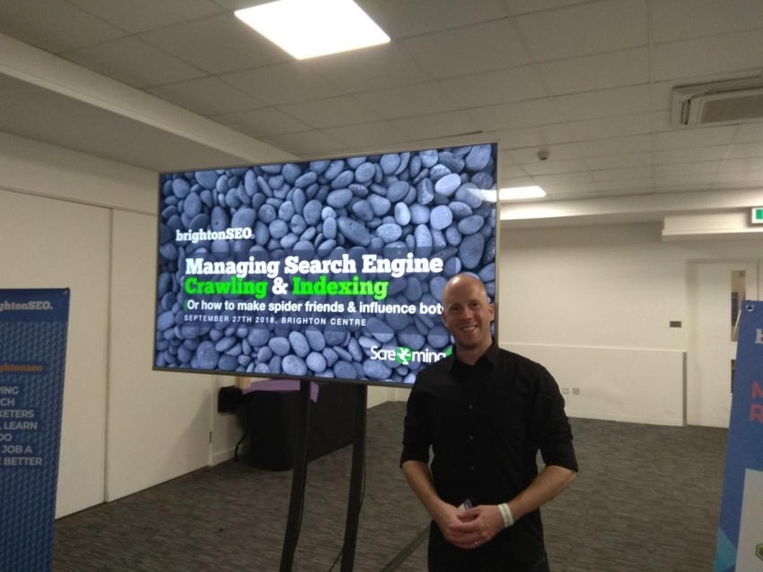 charlie presenting workshop at brightonseo