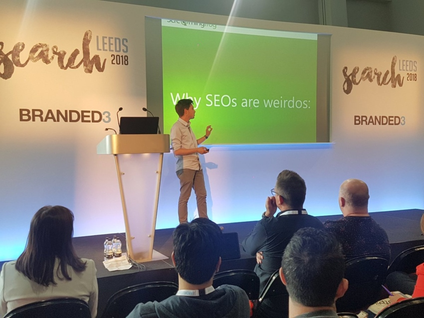 renowned speaker oliver brett presents at searchleeds