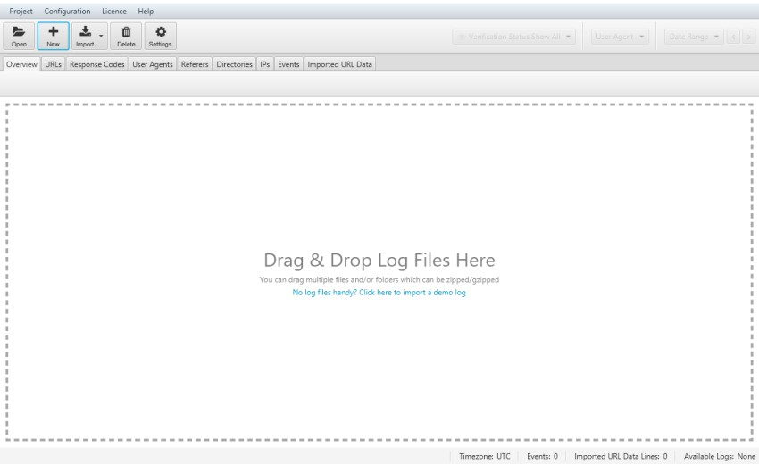 Log File Analyser Drag and Drop Logs