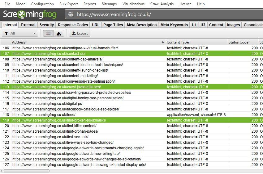 Highlight URLs for link position